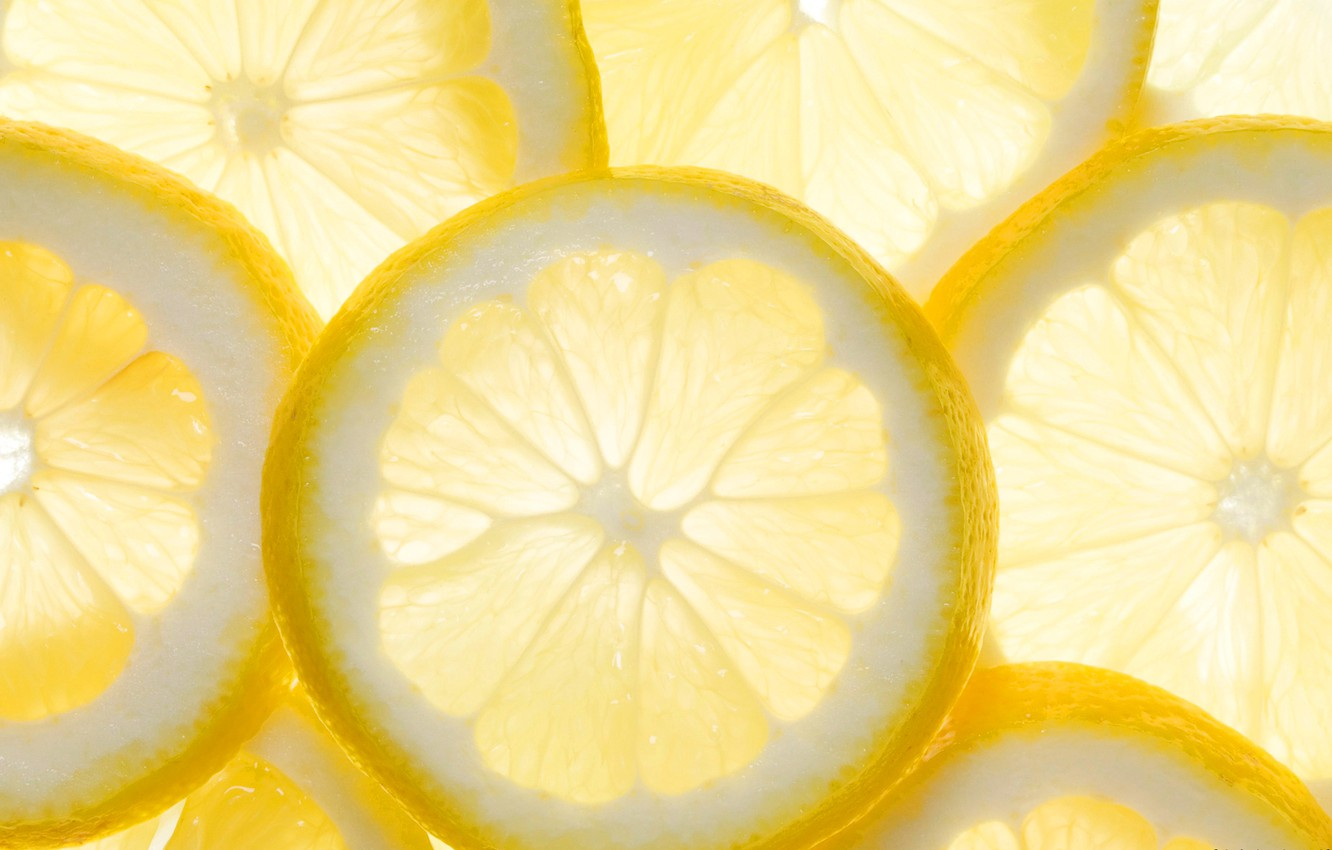 Photo wallpaper lemon, food, slice, citrus