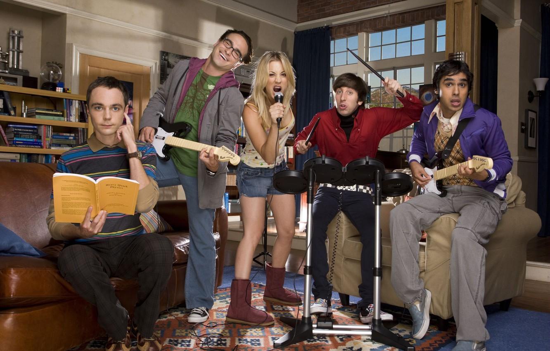 Photo wallpaper characters, The big Bang theory, Penny, Leonard, Raj, Howard, Sheldon