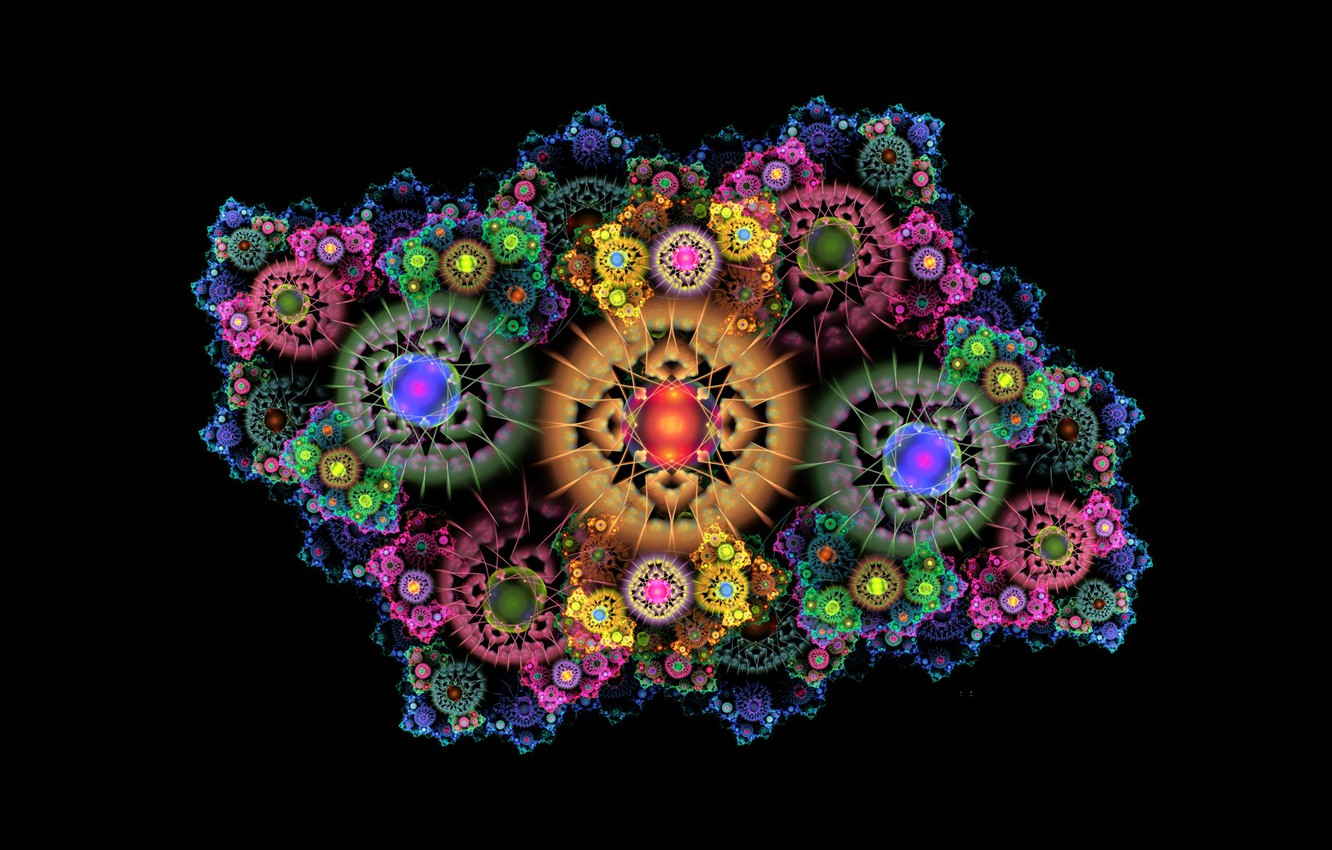 Photo wallpaper abstraction, background, fractal