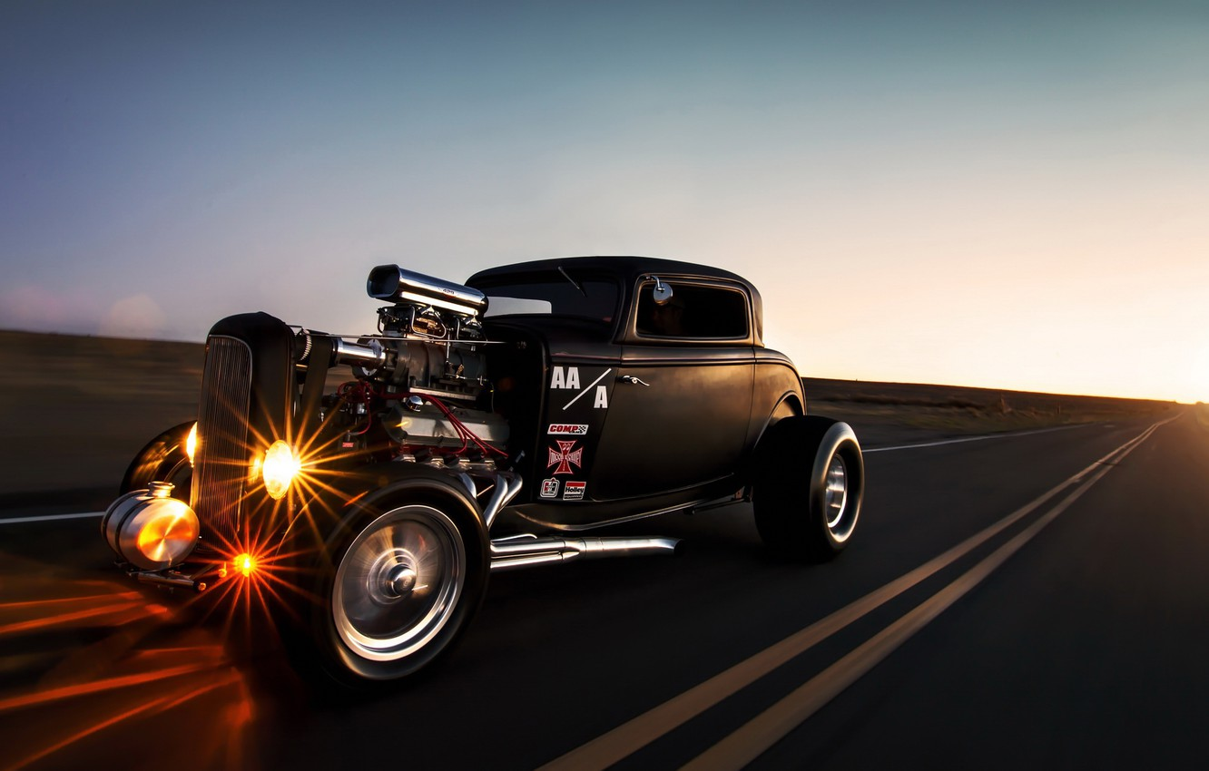 Photo wallpaper car, ford, hot rod, lunchbox photoworks