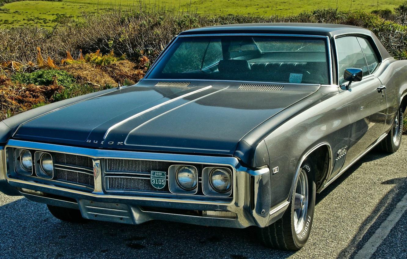 Photo wallpaper coupe, 1969, muscle car, coupe, wildcat, buick
