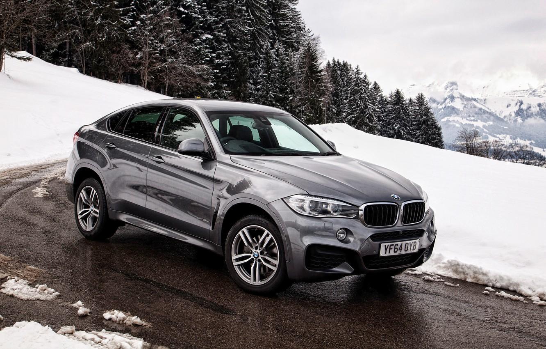 Photo wallpaper winter, snow, BMW, BMW, xDrive, UK-spec, F16, 2015, Sport Package
