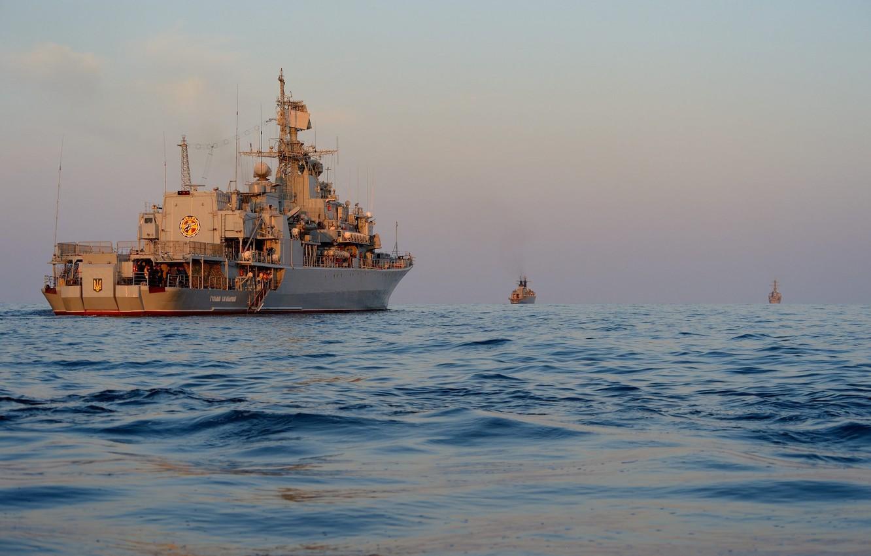 Photo wallpaper Navy, exercises, frigate, Ukraine, Hetman Sahaidachny