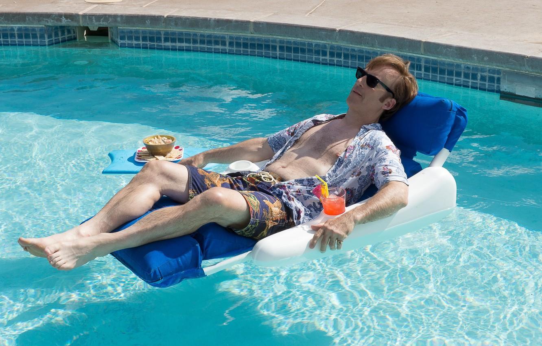 Wallpaper Pool Breaking Bad Sun Man Chair Drink