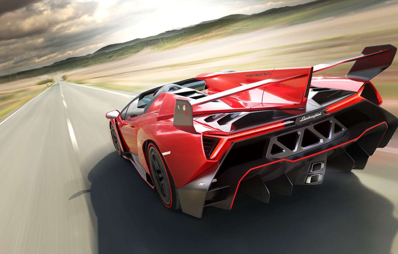 Photo wallpaper Roadster, Lamborghini, Speed, Ass, Speed, Supercar, Supercar, Veneno
