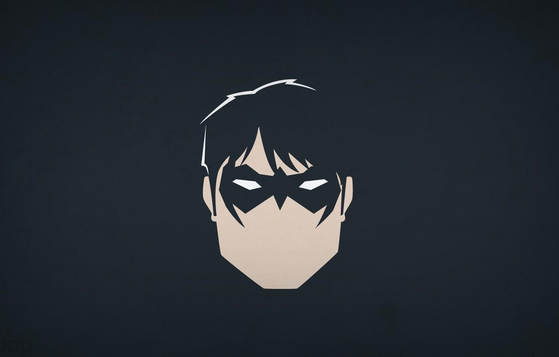 Photo wallpaper minimalism, DC Comics, blo0p, Dick Grayson, Nightwing