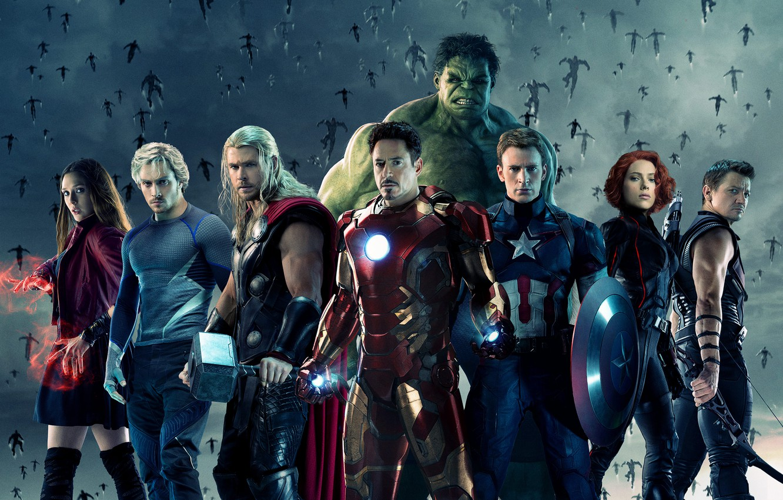 Photo wallpaper Scarlett Johansson, Heroes, Hulk, Girls, Iron Man, The, Captain America, Team, Thor, Black Widow, Robert …