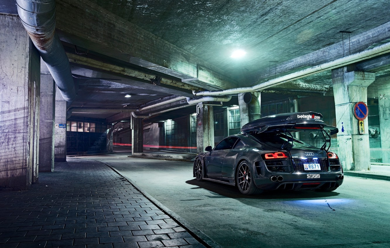 Photo wallpaper auto, audi, tuning, the trunk, tuning, subway, spear hunters
