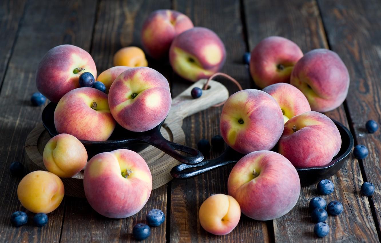 Photo wallpaper berries, fruit, peaches