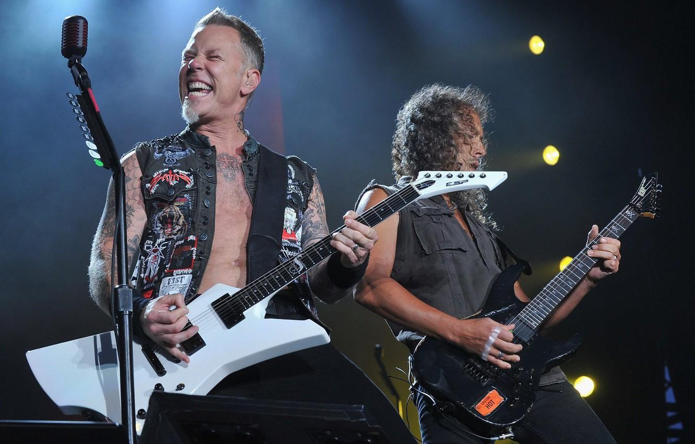 Photo wallpaper music, scene, music, concert, microphone, Rock, electric guitar, Rock, Metallica, thrash metal, thrash metal, hard …