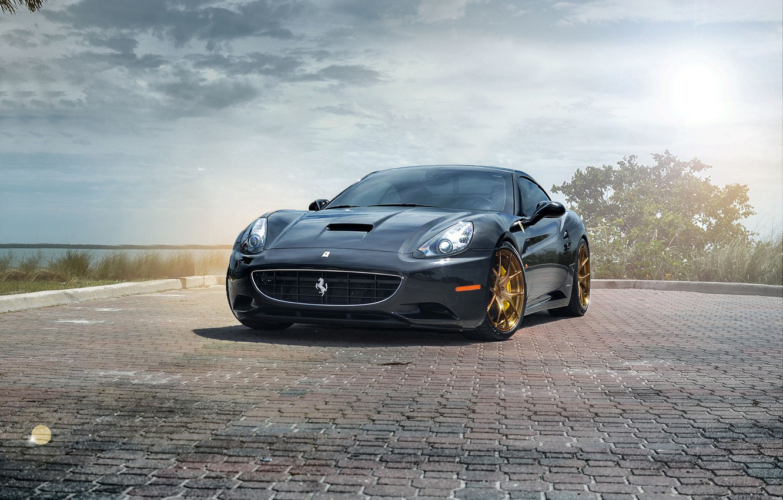 Photo wallpaper Ferrari, California, Wheels, Strasse