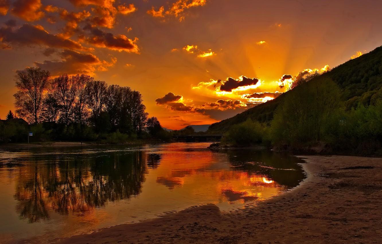 Photo wallpaper sunrise, morning, Flourishing, dawn