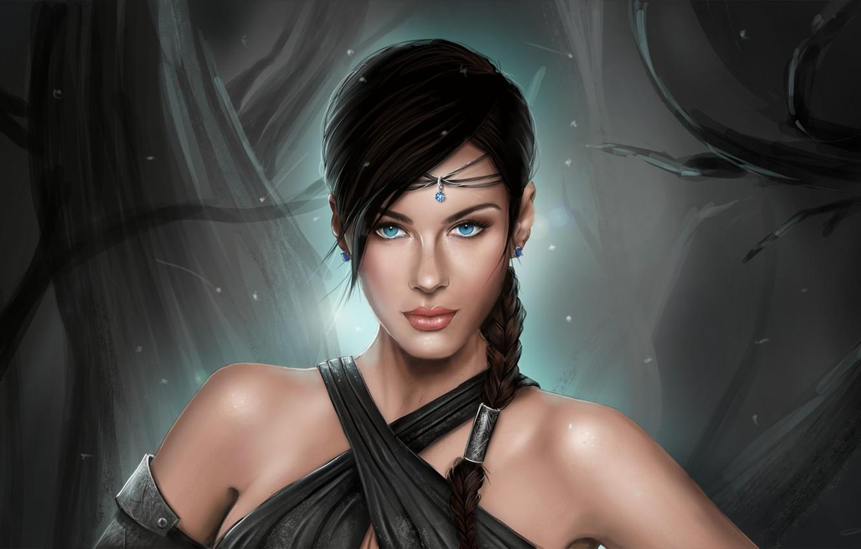Photo wallpaper girl, portrait, art, fantasy