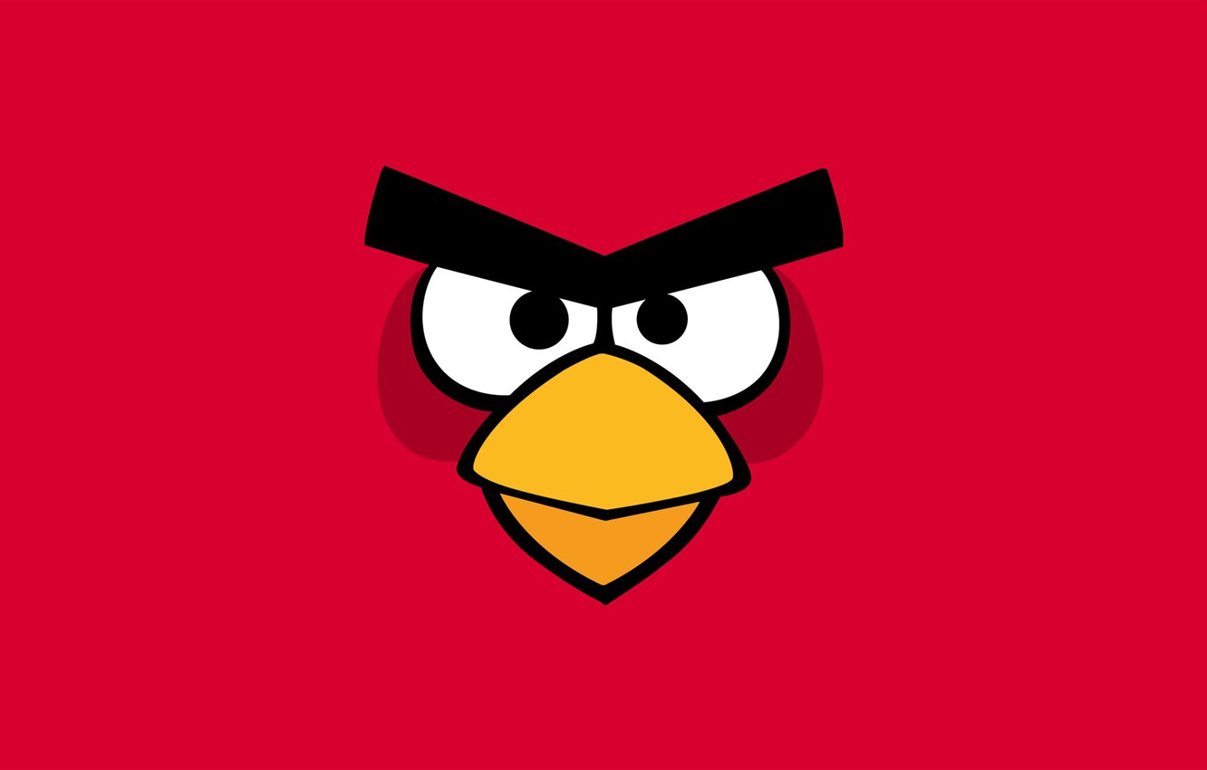 Photo wallpaper background, pink, bird, angry birds