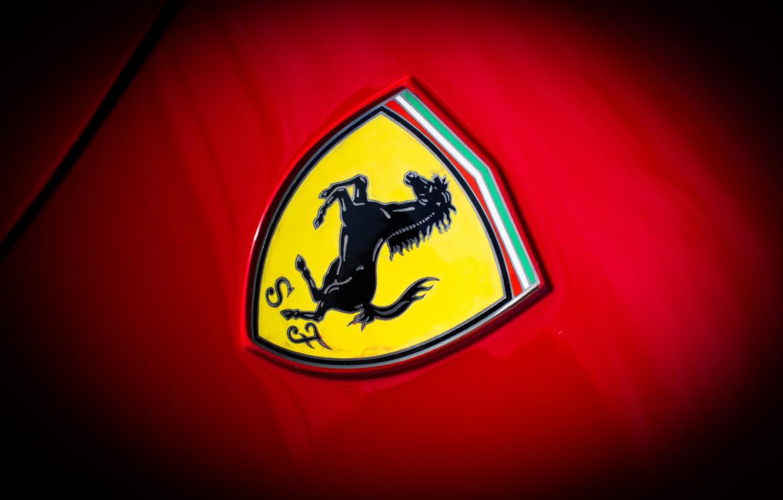 Photo wallpaper Ferrari, emblem, GTO, 288