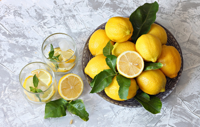Photo wallpaper citrus, lemons, lemonade