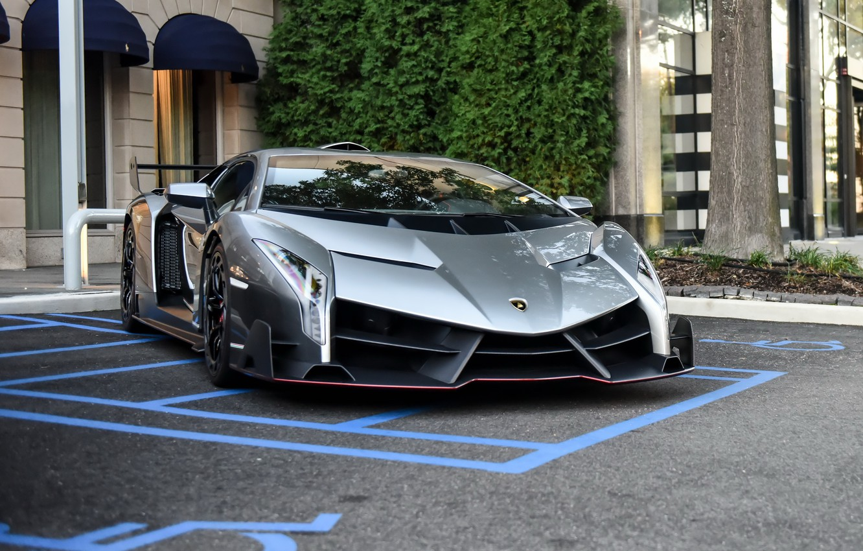 Photo wallpaper Lamborghini, supercar, parking, veneno