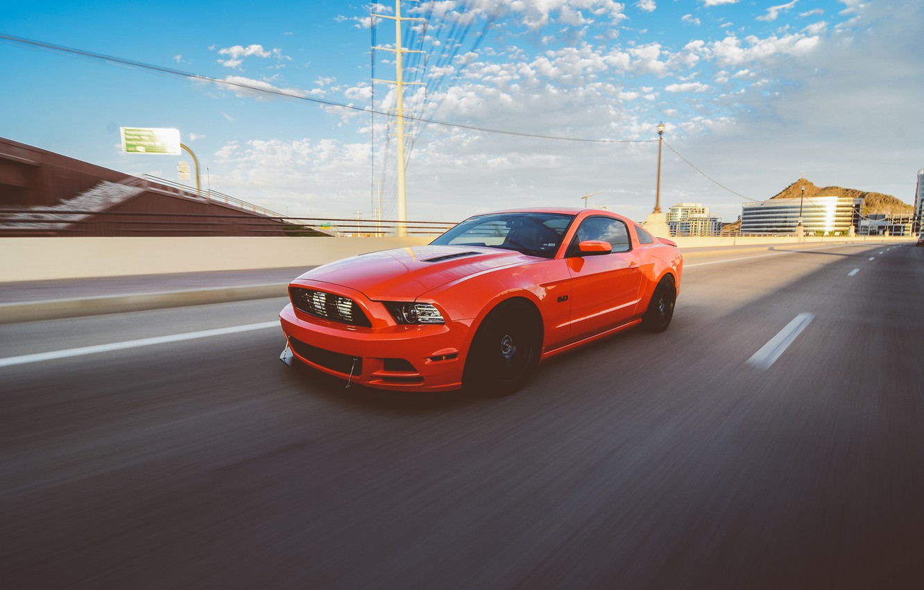 Photo wallpaper Mustang, Ford, GTR, Mustang, Red