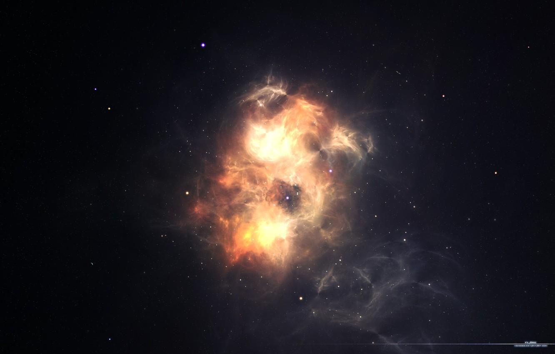 Photo wallpaper stars, light, nebula, constellation, nebula