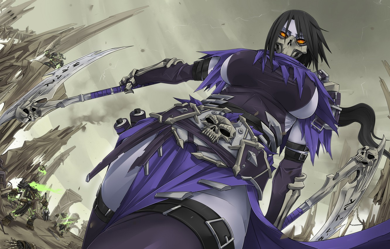 Photo wallpaper Darksiders, Akali, League of Legends, LoL, Exaxuxer