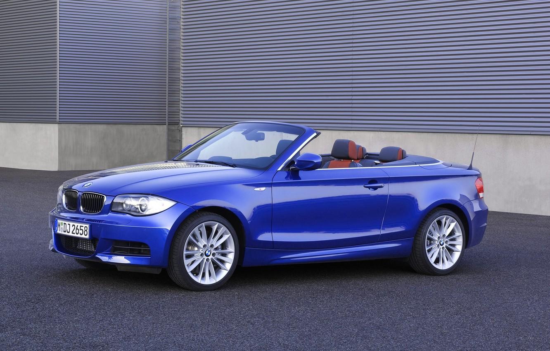 Photo wallpaper Auto, Blue, BMW, Boomer, Convertible, Asphalt, 135i