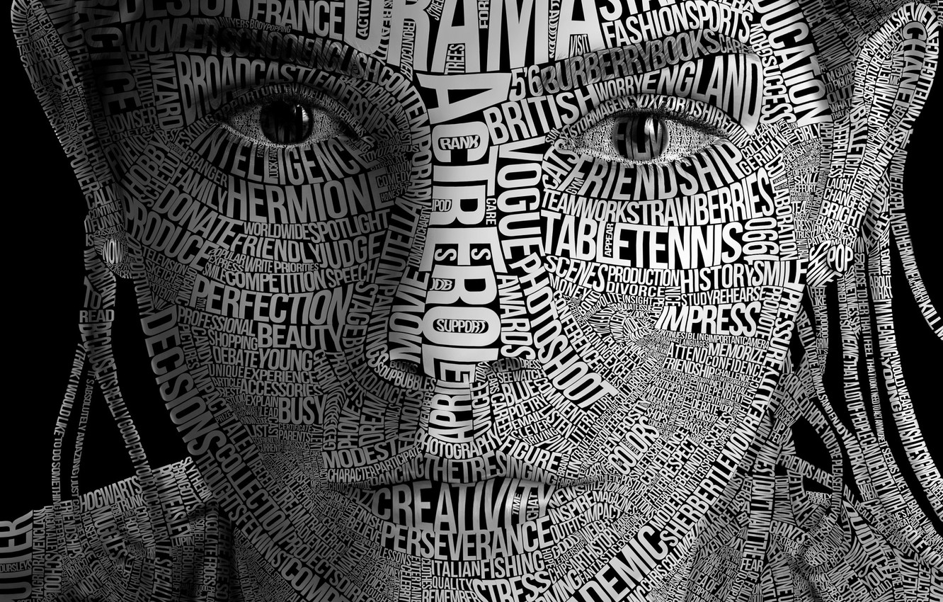 Wallpaper typography, face, letter
