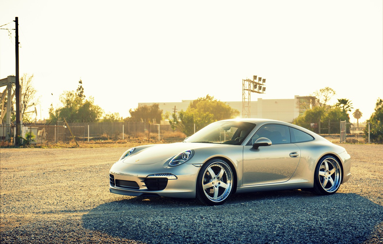 Photo wallpaper Porsche, Porsche, carrera, 991, frontside
