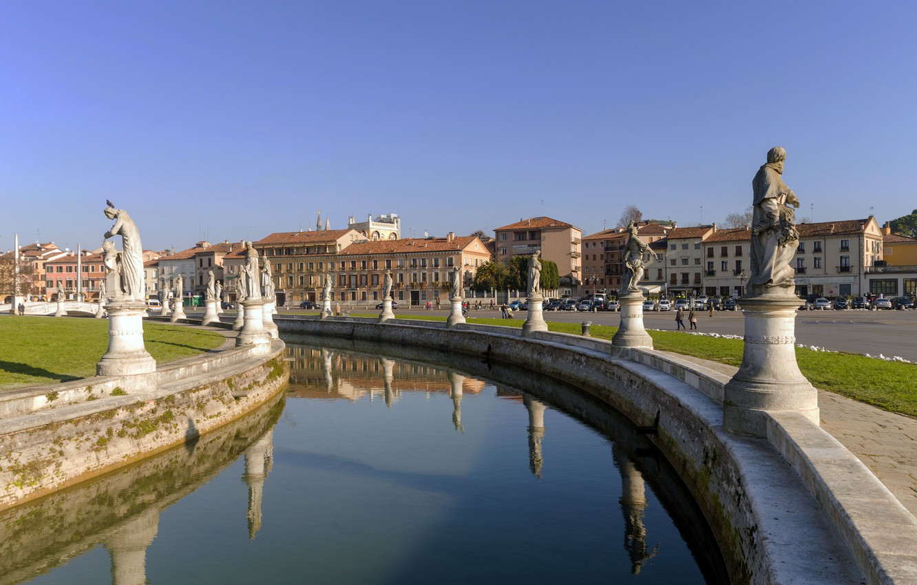 dda1d09de4 Photo wallpaper area, Italy, channel, sculpture, the bridge, Prato della  Valle