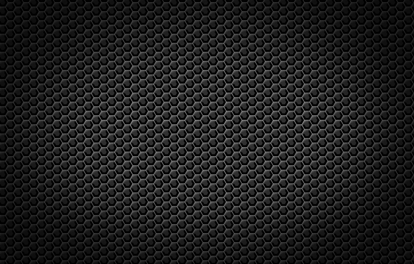 Photo wallpaper metal, black, cell, grille, texture