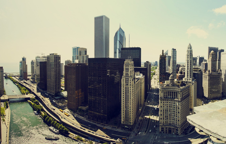 Photo wallpaper building, home, skyscrapers, America, Chicago, USA, chicago