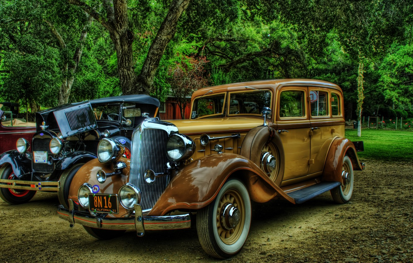 Photo wallpaper Rolls-Royce, vintage, cars, retro, background, old, classic cars model