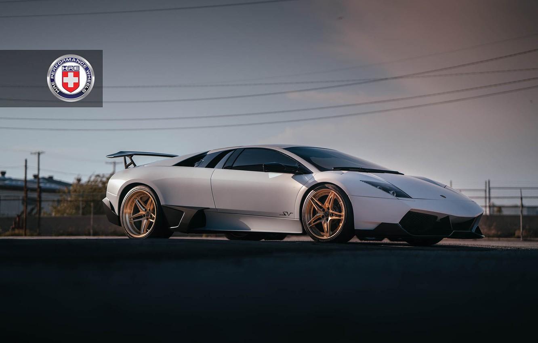Photo wallpaper Lamborghini, with, Murcielago, Wheels, HRE