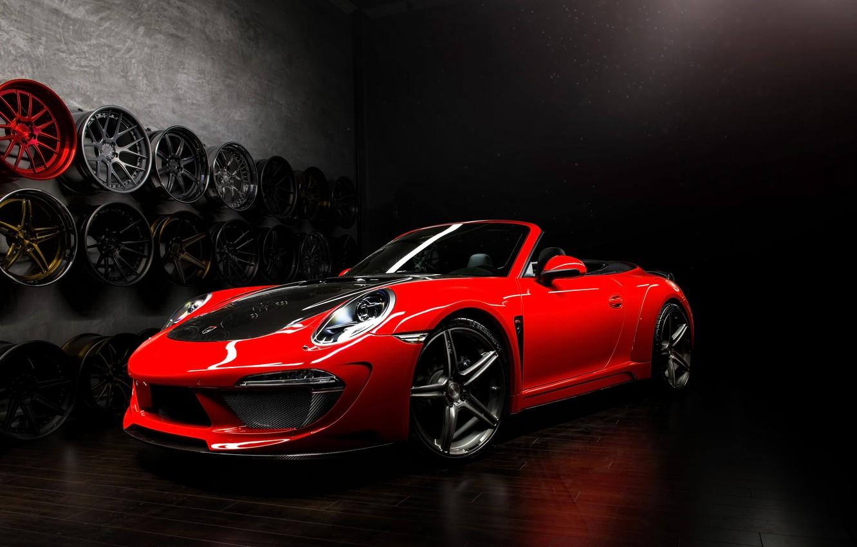 Photo wallpaper tuning, Porsche, tuning, Carrera, rechange, Cabriolet, Ball Wed, Porsche 991, Stinger