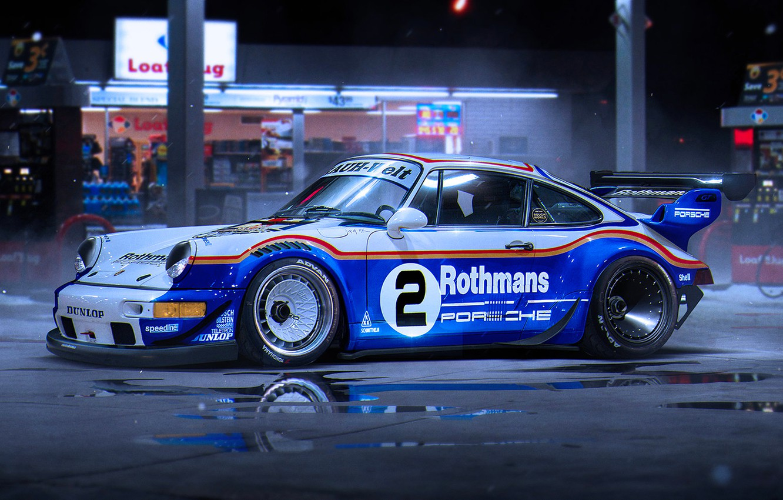 Photo wallpaper 911, Porsche, Car, Race, RWB, by Khyzyl Saleem, Rothmans