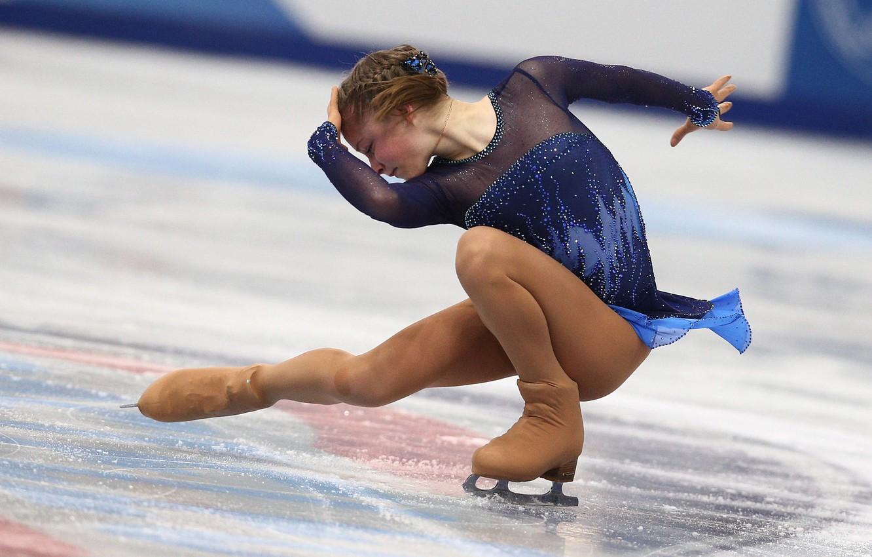 Photo wallpaper ice, figure skating, elegance, RUSSIA, Sochi 2014, The XXII Winter Olympic Games, Sochi 2014, Yulia …