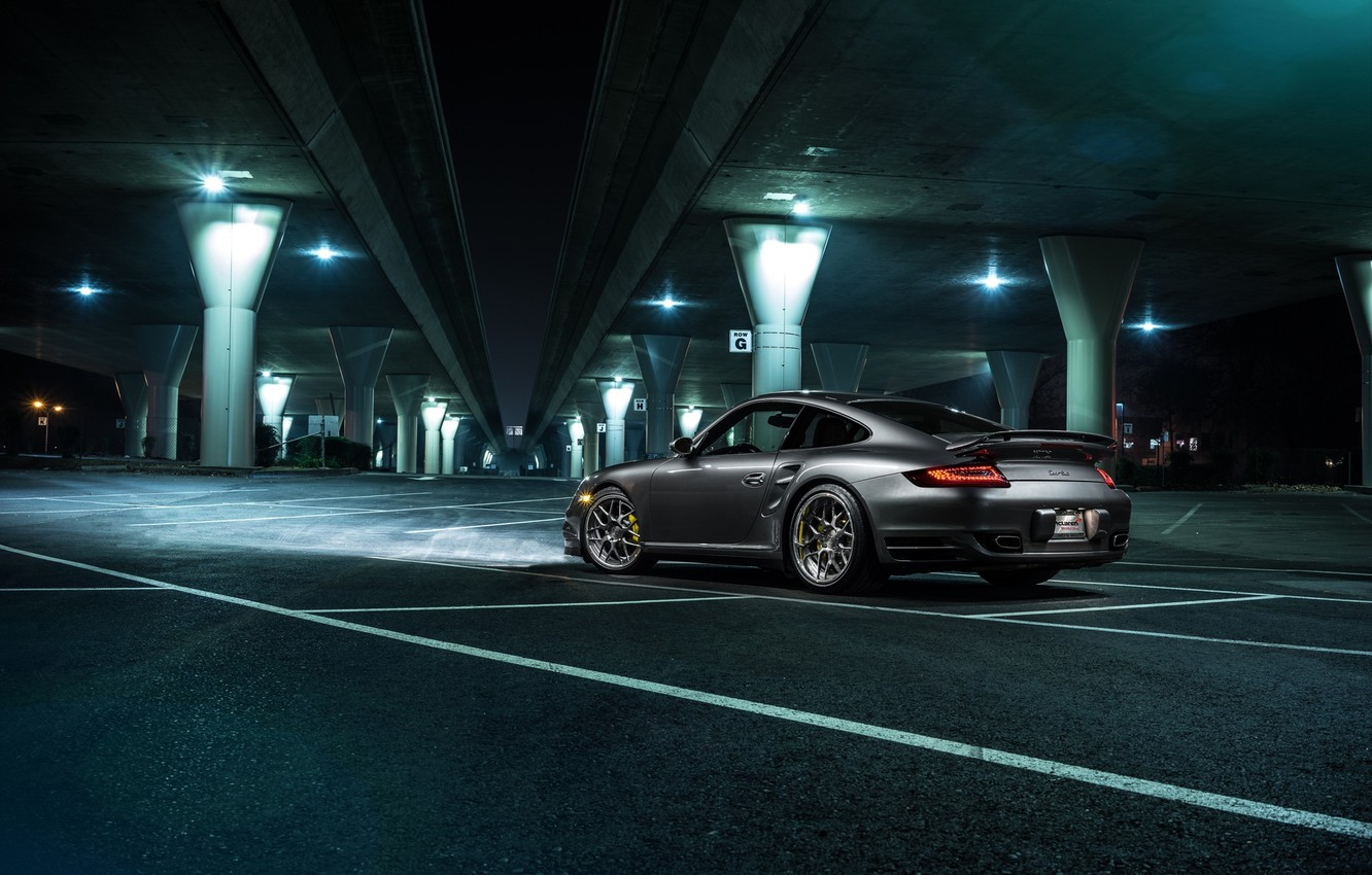 Photo wallpaper 911, Porsche, Forged, Turbo, Collection, Aristo, Rear, Ligth, Nigth