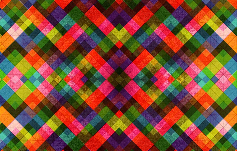 Photo wallpaper line, pattern, color, rainbow, fabric, square, symmetry