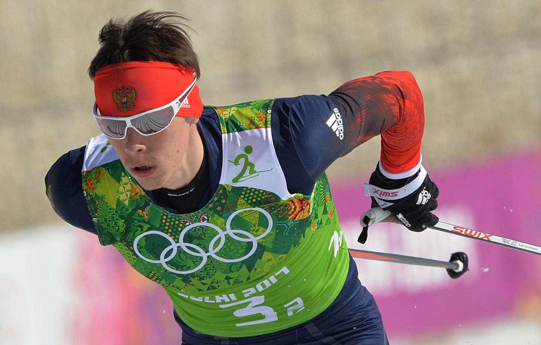 Photo wallpaper Russia, coat of arms, skier, Sochi 2014, sochi 2014 olympic winter games, Alexander Bessmertnykh, silver …