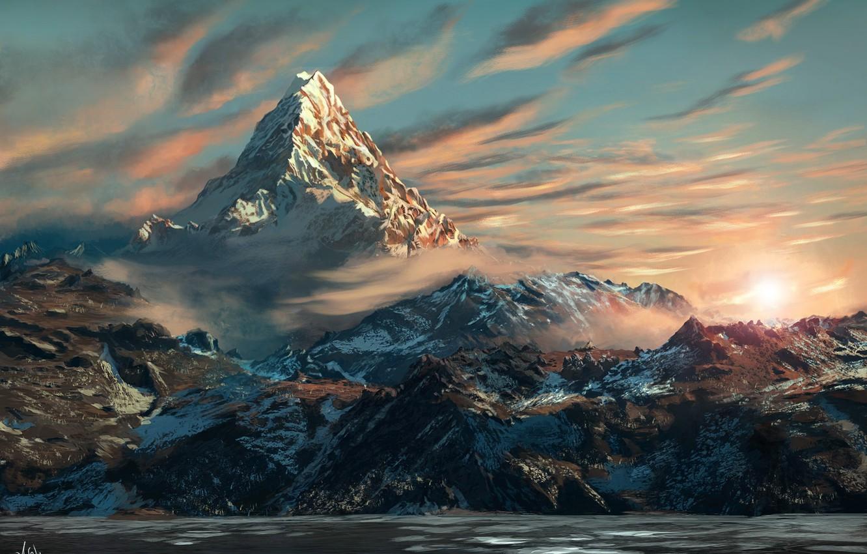 Wallpaper Art The Hobbit The Lonely Mountain Erebor Images For