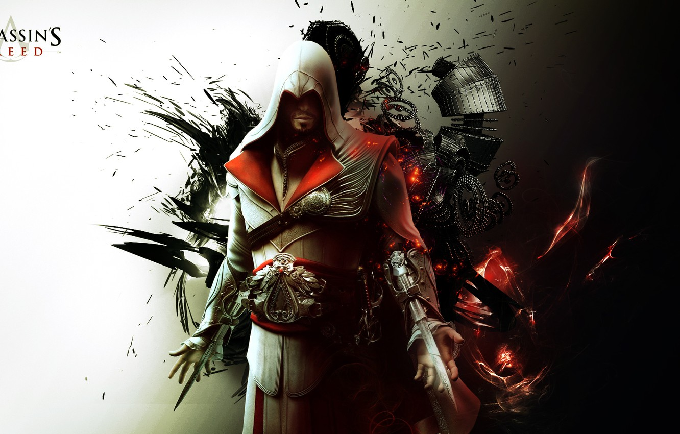 Wallpaper Abstract Killer Assassin Fon Ezio Auditore Da Firenze Ezio Auditore Da Firenze The Creed Of The Assassins Brotherhood Of Blood Assassins Creed Brotherhood Abstract Background Images For Desktop Section Igry