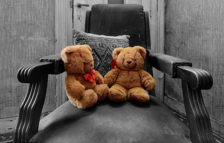Photo wallpaper toys, chair, bears
