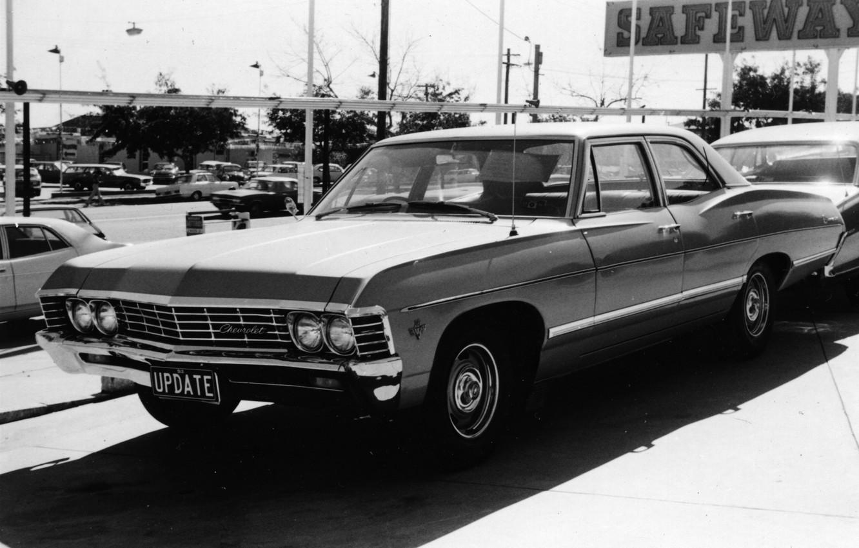 Photo wallpaper Chevrolet, Baby, Supernatural, 1967, Impala, Original, Hardtop, Sale, Serial, Buy, Flashback