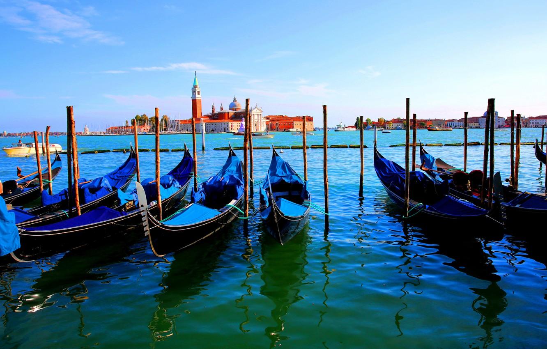Photo wallpaper boat, Italy, Venice, channel, gondola