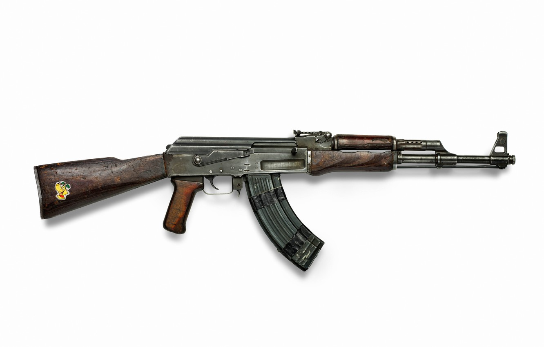 Photo wallpaper rusty, weapons, Wallpaper, USSR, wallpaper, old, Kalashnikov, Machine, legend, shop, sticker, AK-47, wooden stock