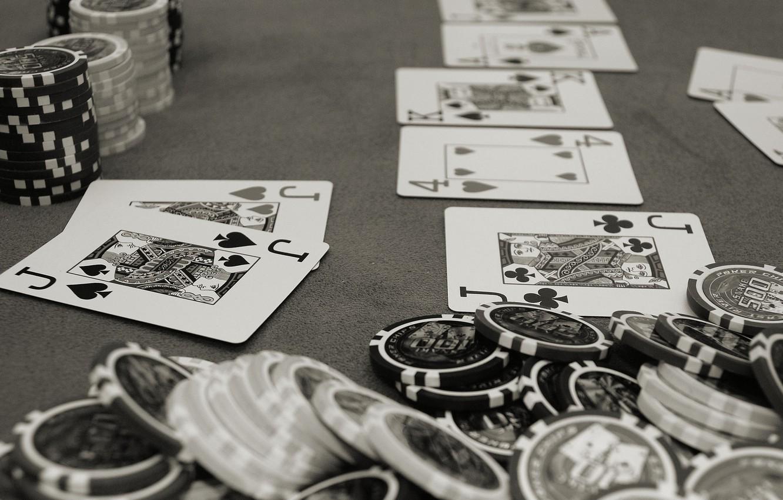Photo wallpaper card, grey, poker