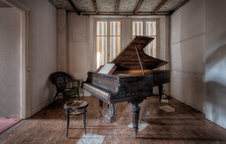 Photo wallpaper music, room, piano