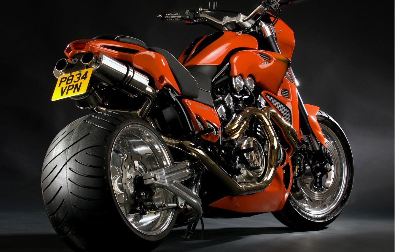 Photo wallpaper Moto, wheel, bike