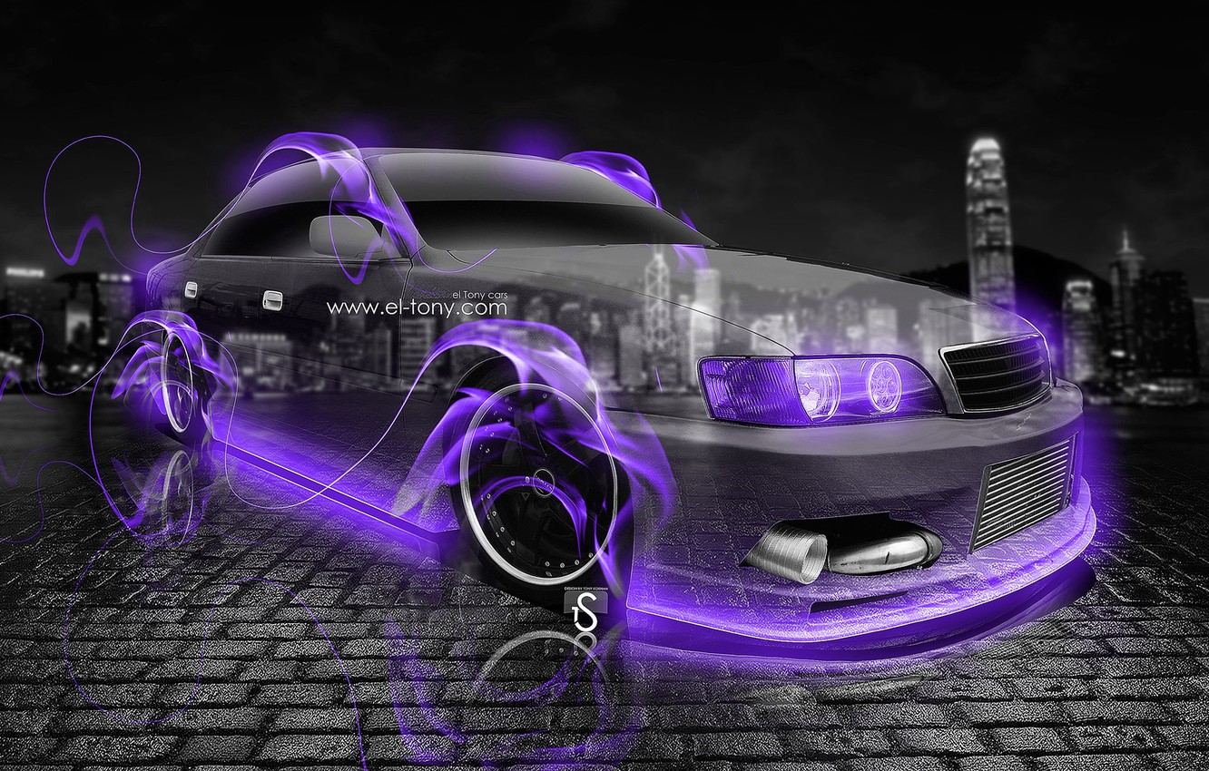 Wallpaper Neon Fire City Flame Toyota Fire Night Violet