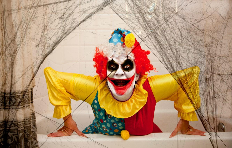 Photo wallpaper holiday, clown, Halloween