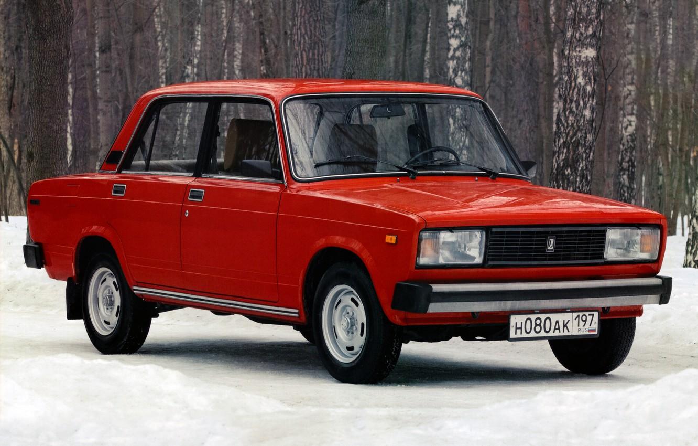 Photo wallpaper red, sedan, Lada, Lada, ваз2105
